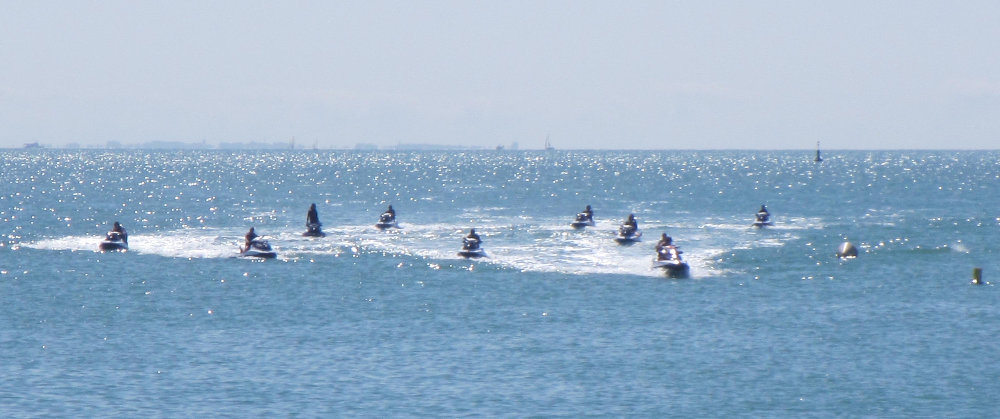 Groupe de jet ski