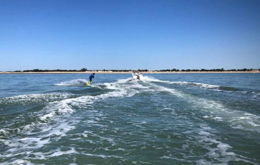 Wakeboard tracté en mer